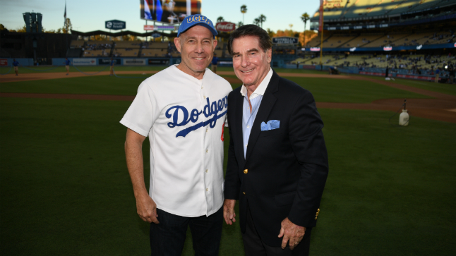 Urologist's first pitch at Dodgers game raises awareness for prostate cancer