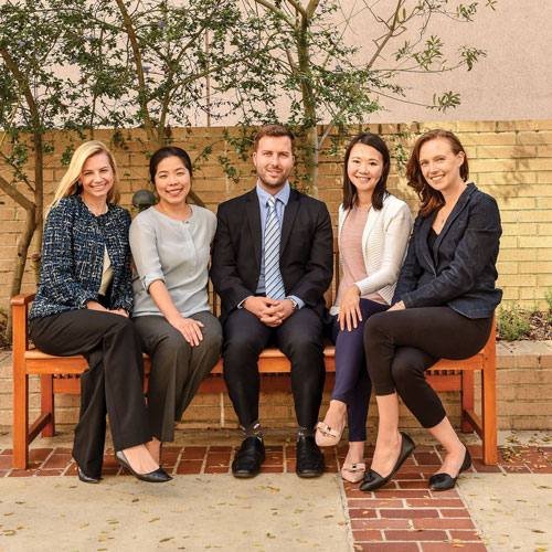 From left: Jessica Jeffrey, MD, MPH, Kimberly Chen, MSN, RN, Kevin Baldwin, MPH, Clara Lin, MD, and Rachel Linonis, MS.
