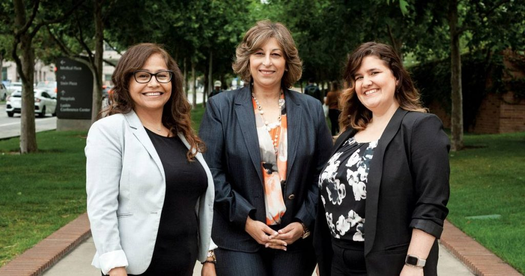 (From left) Susana Morales, Shereen Gerges and Audrey Martinelli Rodriguez strive to be a one-stop shop for international patients