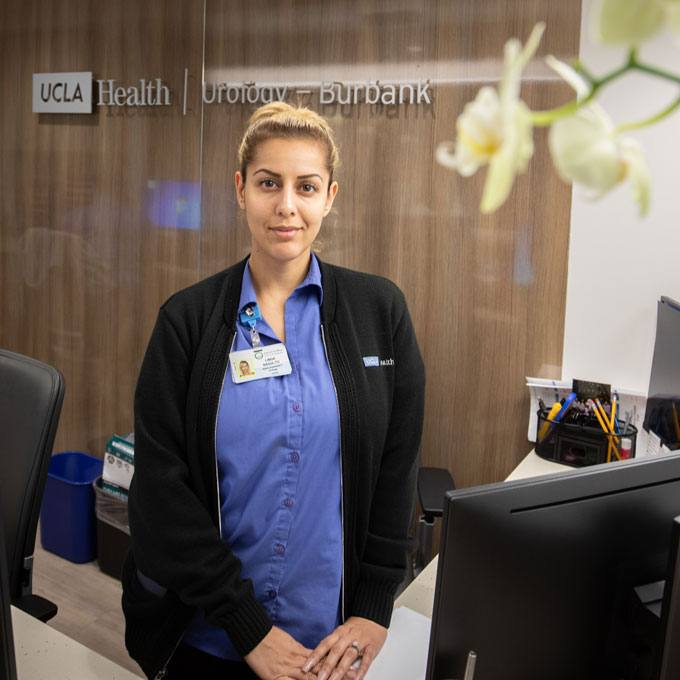 Medical assistant standing in UCLA Health Burbank Urology office