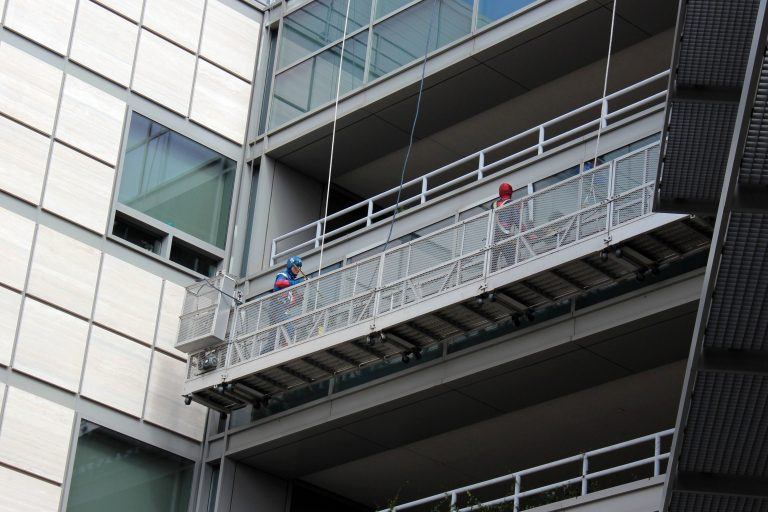 Superhero Window Washers at UCLA Mattel Children's Hospital