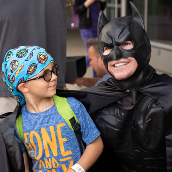 Grime-Fighting Superheroes Make Surprise Visit to UCLA Mattel Children's Hospital
