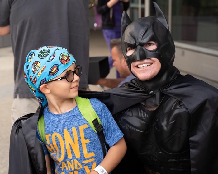 Grime-Fighting Superheroes Make Surprise Visit to UCLA Mattel Children's Hospital