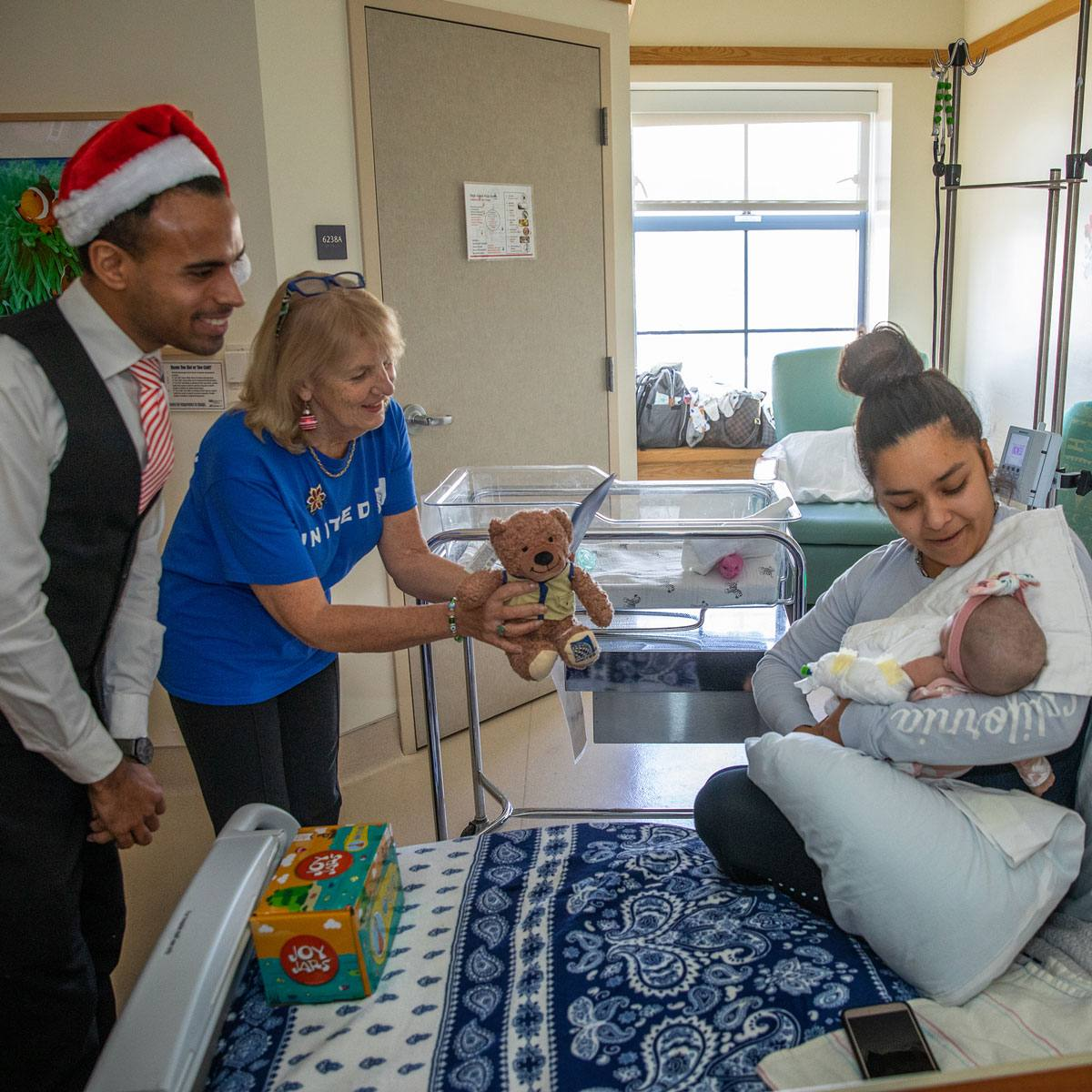 United Airlines Volunteers Make Special Deliveries to Young Patients at UCLA Medical Center, Santa Monica
