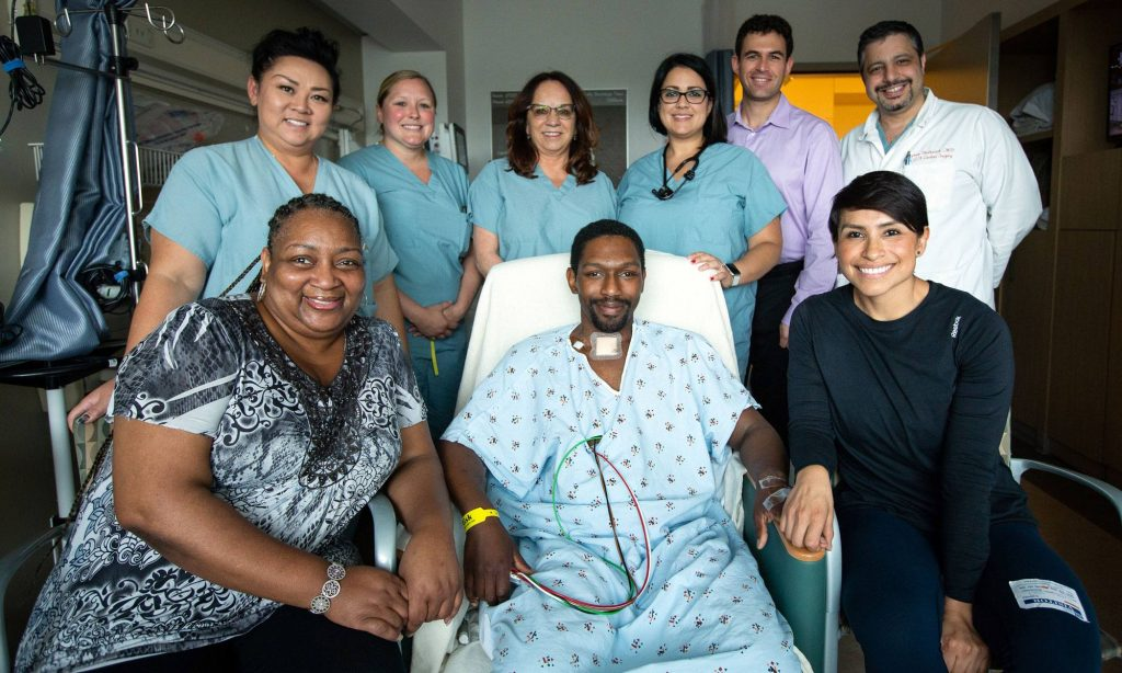 Jonathan Cosby, his family and the UCLA ECMO Team