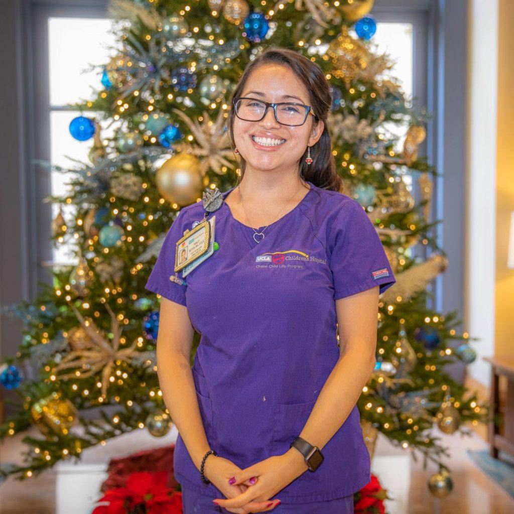 Tracy Serrano, a child life specialist at UCLA Mattel Children's Hospital, Santa Monica