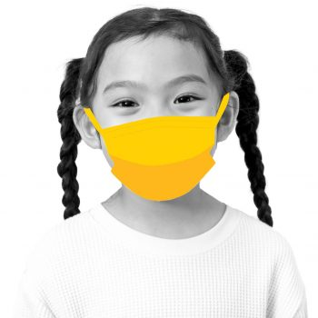 Girl wearing a mask.