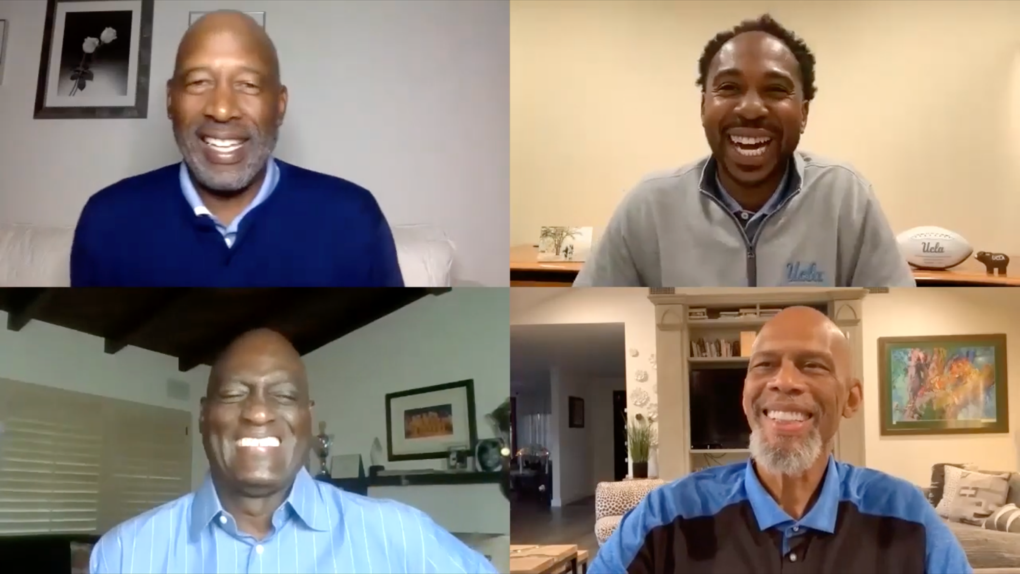 Lakers legends Kareem Abdul-Jabbar, Michael Cooper and James Worthy talk sports, activism and health