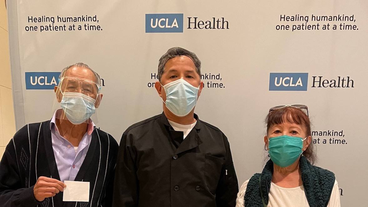COVID-19 vaccination event held for elderly relatives of UCLA Health general services staff