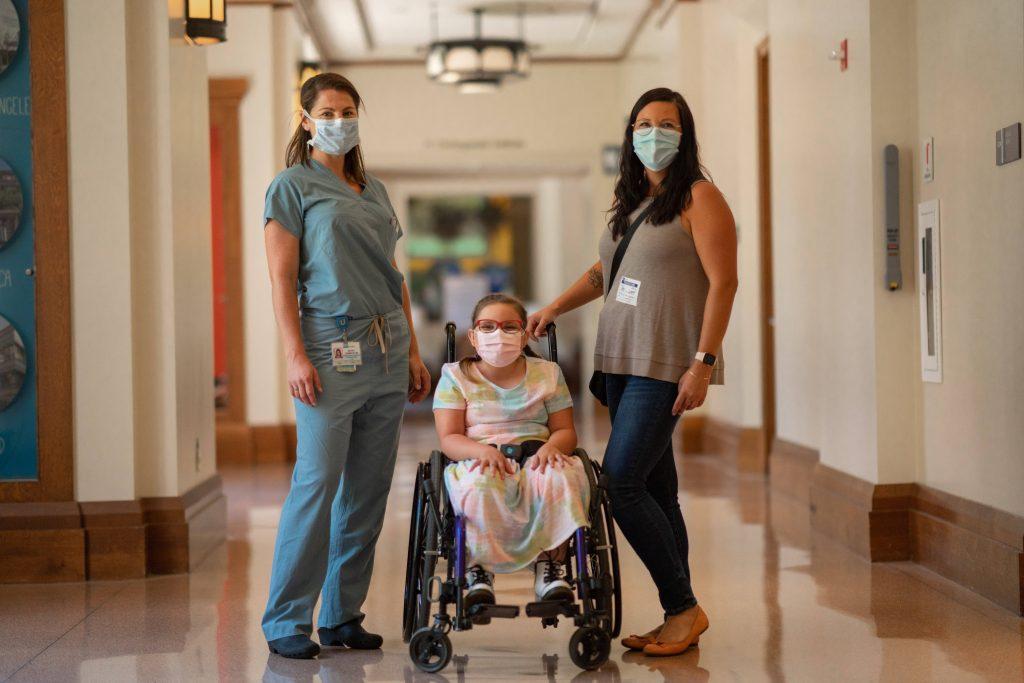 Dr. Rachel Thompson, left, with Scarlett Ferguson and Scarlett's mom, Keri Ferguson.