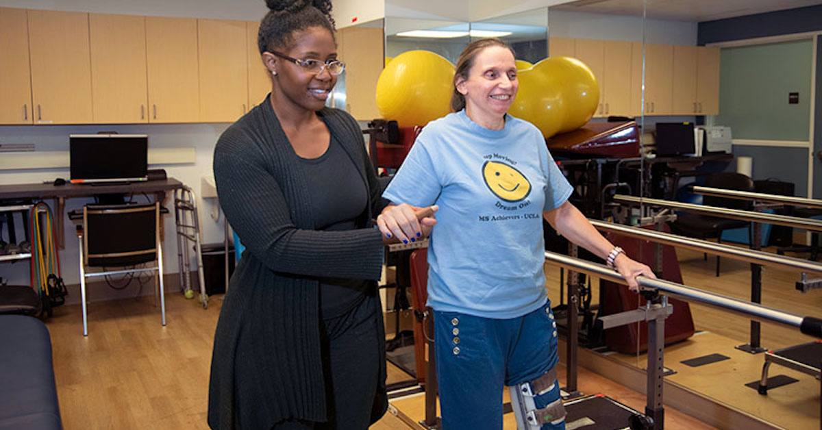 Therapist working with a member in the MSAC