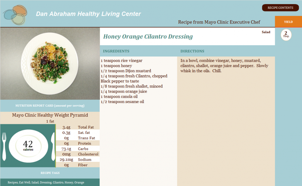 Honey Orange Cilantro Dressing