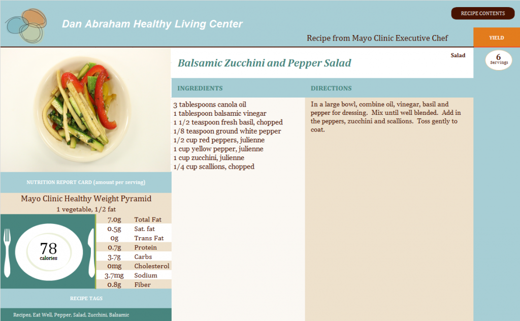 Balsamic Zucchini and Pepper Salad