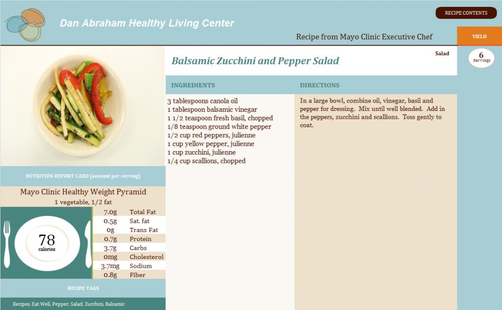 Balsamic Zucchini and Pepper Salad