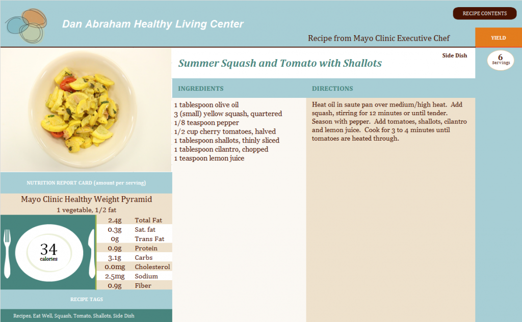 Summer Squash and Tomato with Shallots