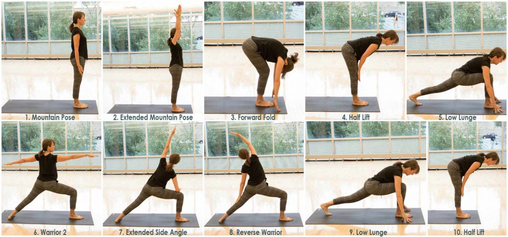 yoga poses words