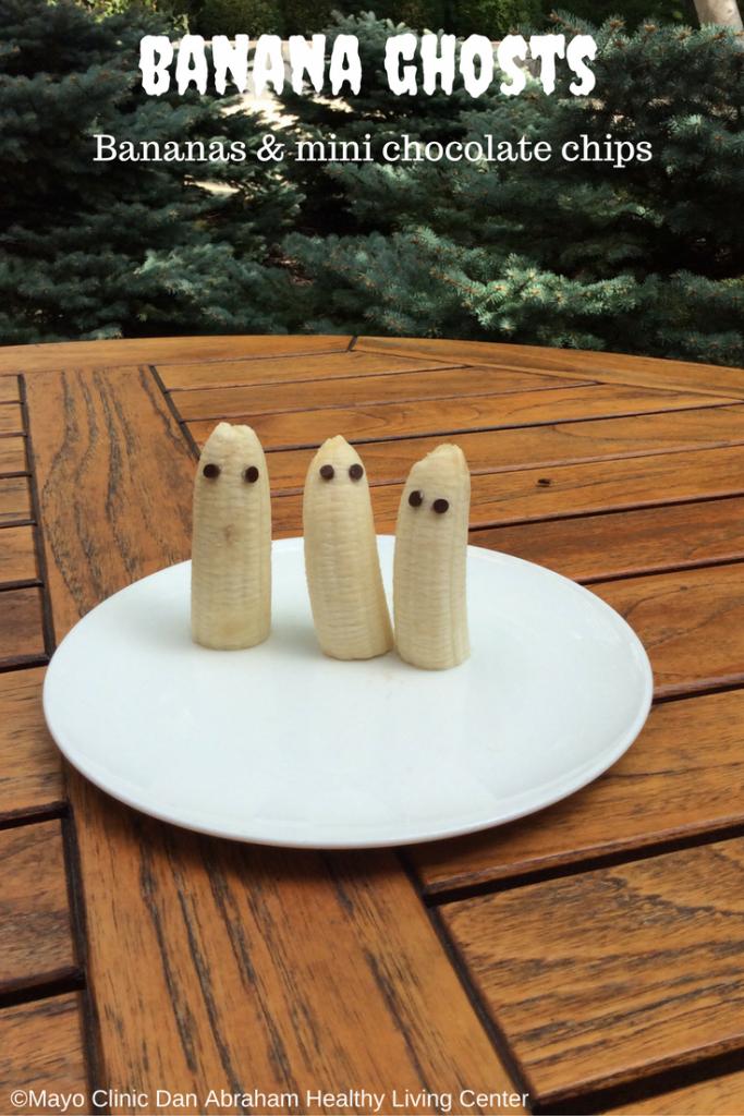 Healthy Halloween Kids Treat Ideas: Banana Ghosts