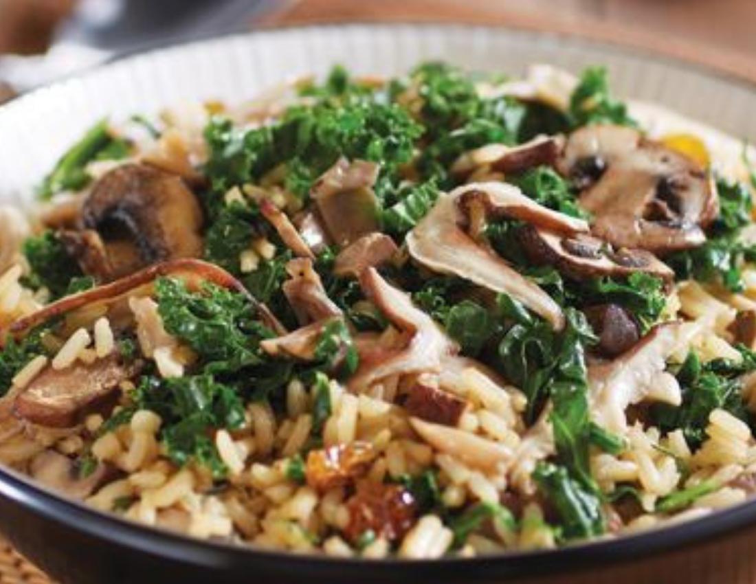 Kale and Mushroom Rice Bowl