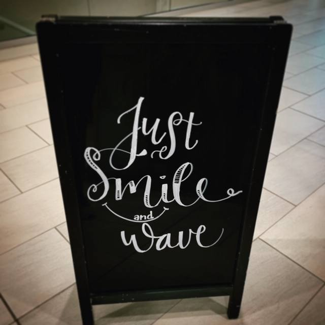 Smile and Wave Chalkboard