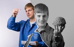 Graduate student Kevin Bieniek
