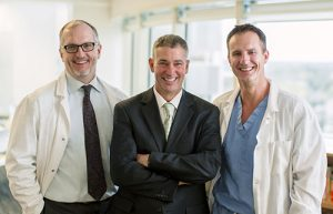 A close-knit team: Drs. Dietz, Faubion and Dozois.