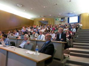 """Rapt attention during the entrepreneurship talks at the """"Walleye Tank"""""""