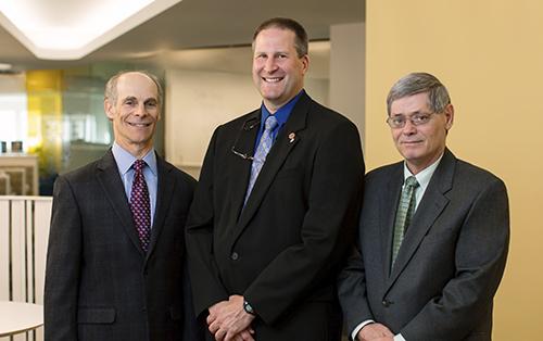 "Another Mayo ""Team Science"" cadre: (l-r) Keith Baratz, M.D., Michael Fautsch, Ph.D., Eric Wieben, Ph.D."