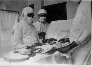 Charles Mayo and colleagues in surgery suite