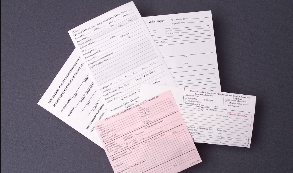 examples of blank medical forms