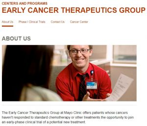 Early-phase Cancer Clinical Trials (Phase I) Available at Mayo Clinic