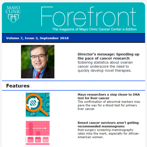 Have You Read the September 2018 Issue of Forefront Magazine?