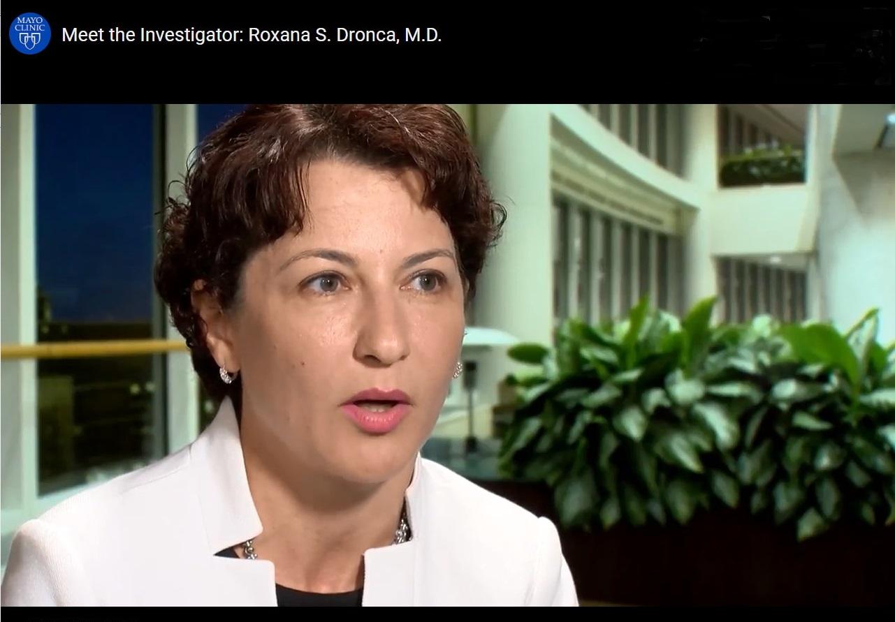 Meet the investigator: Roxana S. Dronca, M.D.