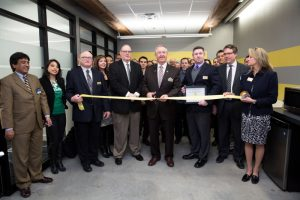 Mayo Clinic Ventures team at a ribbon cutting ceremony