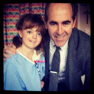 Anna with Mikel Prieto, M.D.