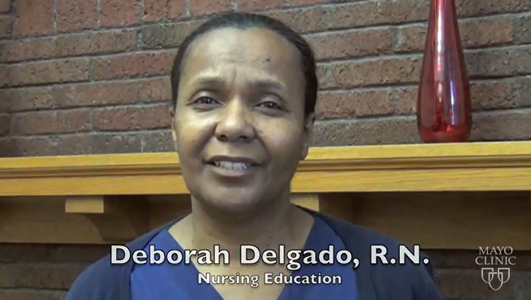 Deborah Delgado recites the Gettysburg Address