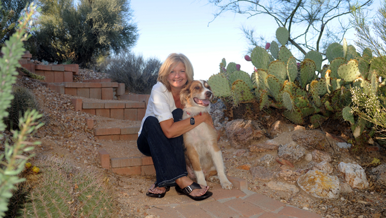Teri Williams and her dog, Pete.