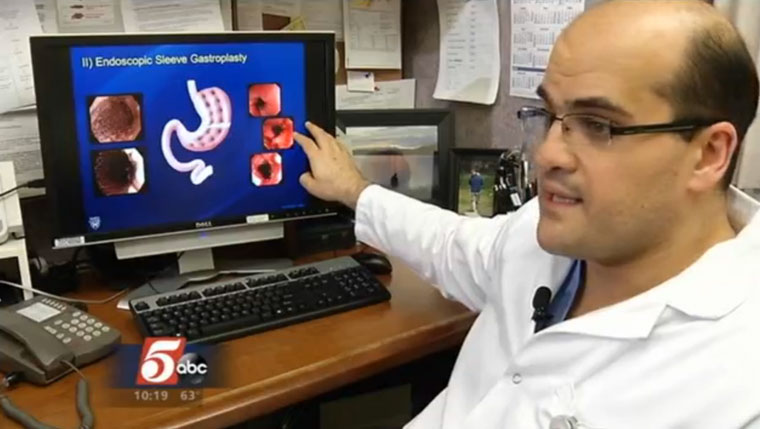 Barham Abu Dayyeh, M.D., discusses a new way to shrink a person's stomach with KSTP-TV.