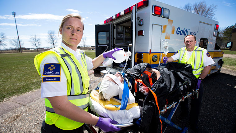 The new paramedic training program at the Mayo School of Health Sciences is training the next generation of emergency medical technicians.
