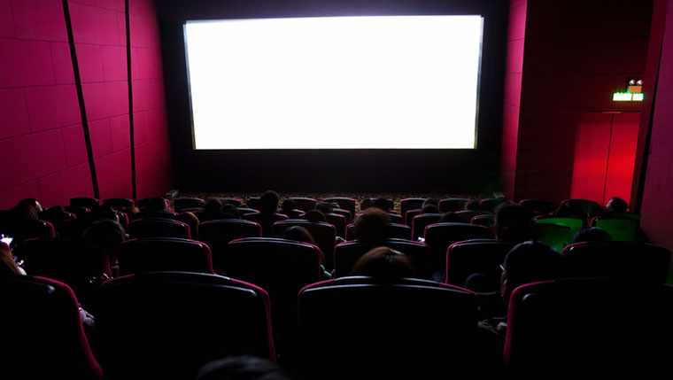 Image of audience watching movie.