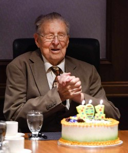 Dr. Lewis Woolner celebrates his 101st birthday.