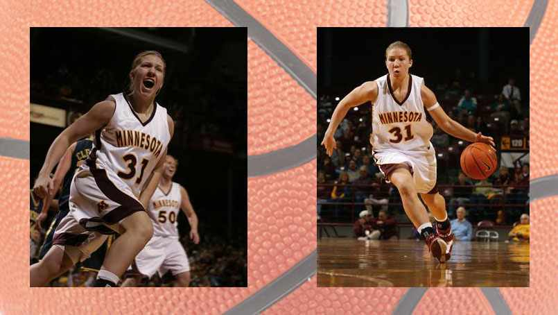 Hannah (Garry) Lechner during her Gopher playing days.