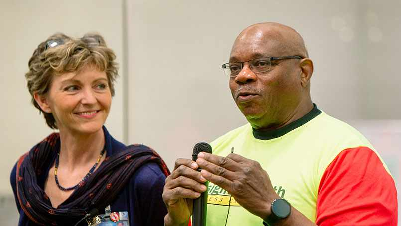 Al McFarlane and Sharonne Hayes, M.D., welcome Insight 2 Fitness Challenge participants