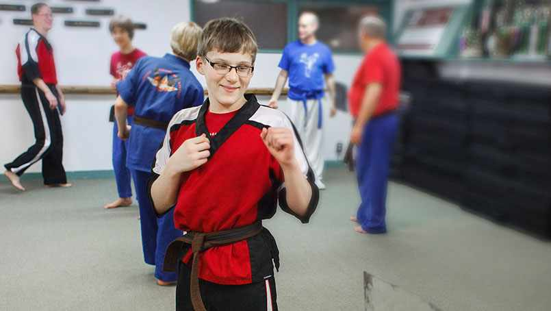 Ty Wieberg received his black belt in karate despited the challenges of spina bifida.