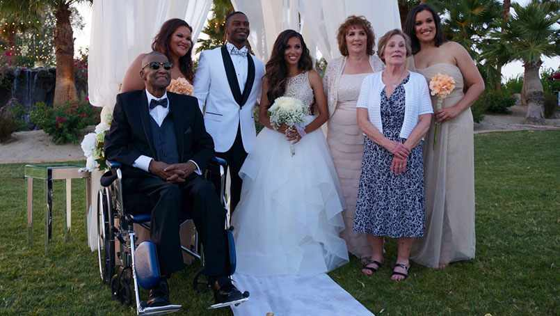 With the help from his care team, Andre Pearson was able to attend his daughter's wedding.