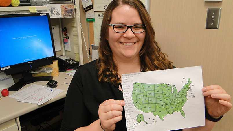 In five years and two months' time, Sarah Dahlhauser had seen and treated a patient from every state in the country.