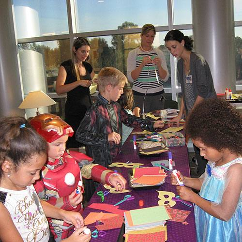 "Florida MERGs held a Halloween-themed ""Boo the Flu"" vaccination party for children."