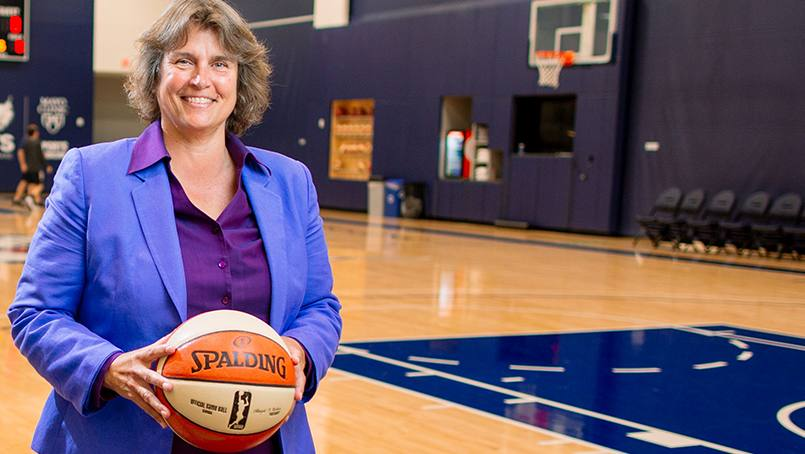 Nancy Cummings, M.D., orthopedic surgeon and team physician for the Minnesota Lynx, says her position caring for the three-time champs is what I was destined for.