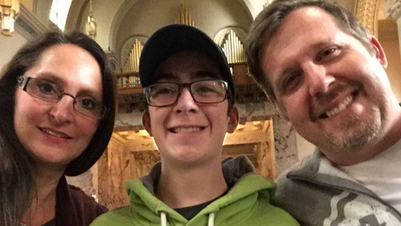 Piper, Marcus and Mick Nichols are grateful to the many hands that cared for Marcus at Mayo Clinic.