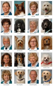 A page from Mayo Clinic Caring Canine's directory.