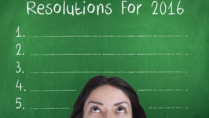 Realistic goals for setting resolutions.